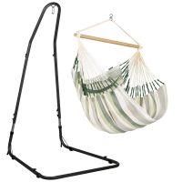 Domingo Cedar - Comfort hängstol med pulverlackerad stål-ställning
