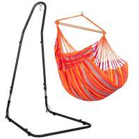 Domingo Toucan - Comfort hängstol med pulverlackerad stål-ställning