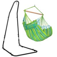 Domingo Lime - Comfort hängstol med pulverlackerad stål-ställning