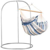 Domingo Sea Salt - Kingsize hängstol med pulverlackerad stål-ställning