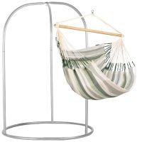 Domingo Cedar - Kingsize hängstol med pulverlackerad stål-ställning