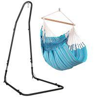 Habana Azure - Comfort hängstol med pulverlackerad stål-ställning