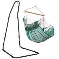 Habana Agave - Comfort hängstol med pulverlackerad stål-ställning