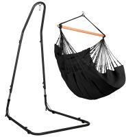 Habana Onyx - Comfort hängstol med pulverlackerad stål-ställning