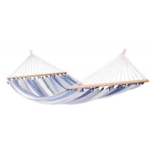 Alisio Sea Salt - Vädertålig dubbel hängmatta med träkarmar