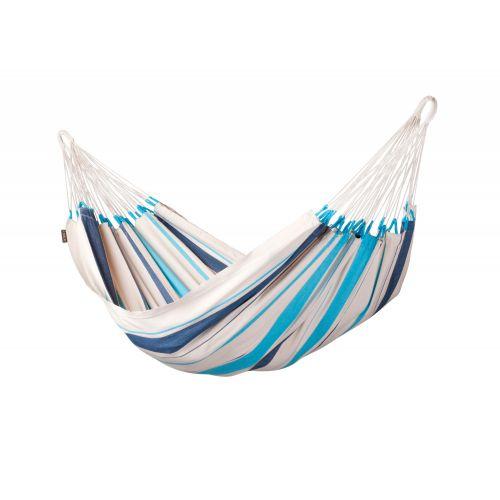 Caribeña Aqua Blue - Klassisk singel hängmatta i bomull