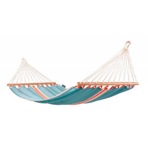 Fruta Curaçao - Vädertålig singel hängmatta med träkarmar