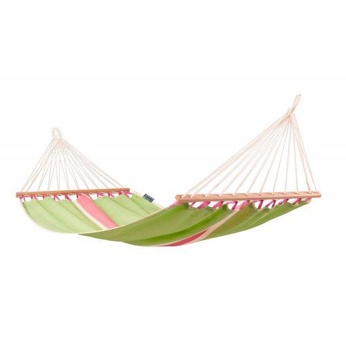 Fruta Kiwi - Vädertålig singel hängmatta med träkarmar