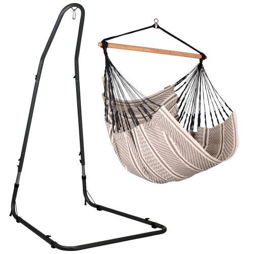 Habana Zebra - Comfort hängstol med pulverlackerad stål-ställning