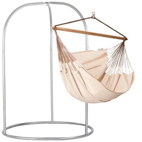 Habana Nougat - Lounger hängstol med pulverlackerad stål-ställning