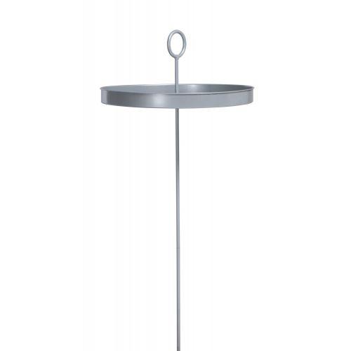 Mesero Silver - Bord för hängmattan i pulverlackerad stål