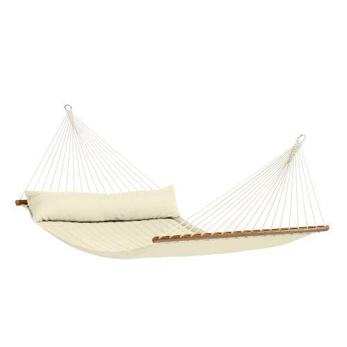 Alabama Vanilla - Vadderad kingsize hängmatta med träkarmar