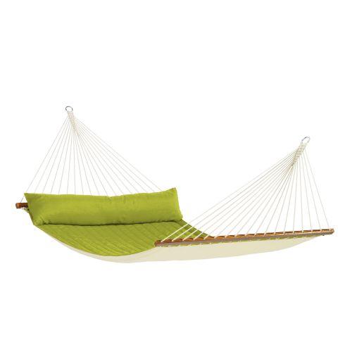 Alabama Avocado - Vadderad kingsize hängmatta med träkarmar