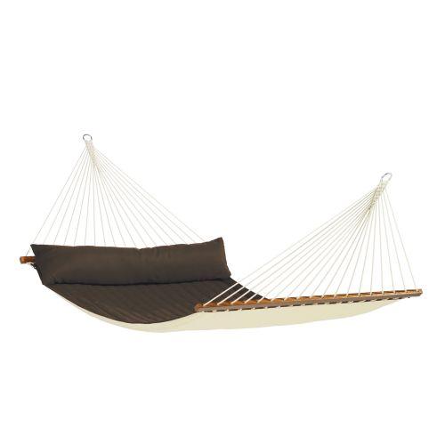 Alabama Arabica - Vadderad kingsize hängmatta med träkarmar