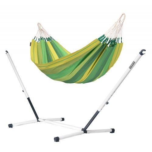 Orquídea Jungle - Klassisk singel hängmatta med pulverlackerad stål-ställning