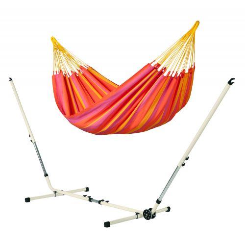 Sonrisa Mandarine - Klassisk singel hängmatta med pulverlackerad stål-ställning